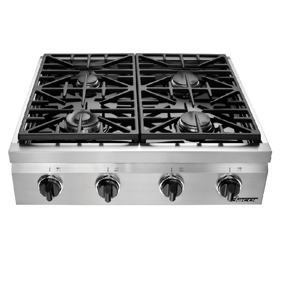 Dacor Distinctive 4-Burner Gas Cooktop (Stainless Steel) (Common: 30-in; Actual: 29.875-in)