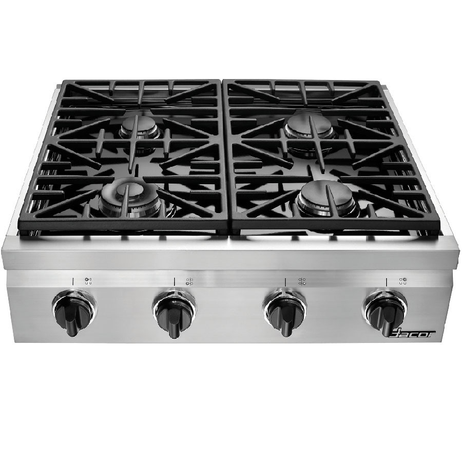 Shop dacor distinctive 4 burner gas cooktop stainless for Dacor cooktop