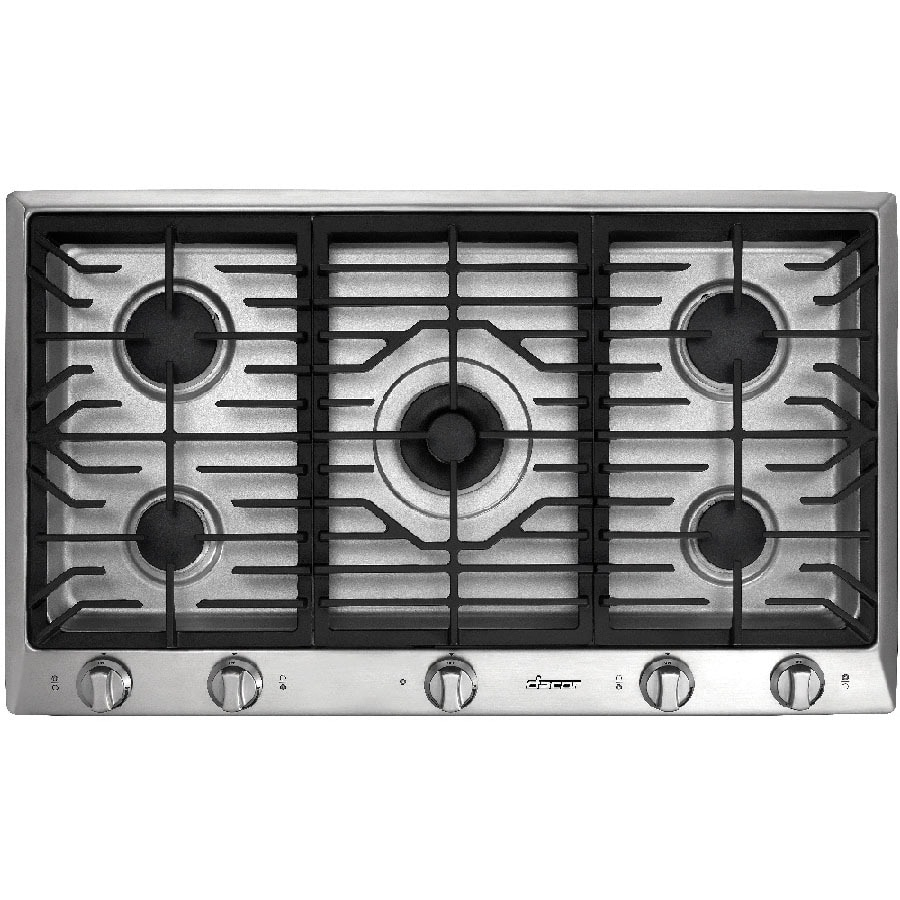 Shop dacor distinctive 5 burner gas cooktop stainless for Dacor cooktop