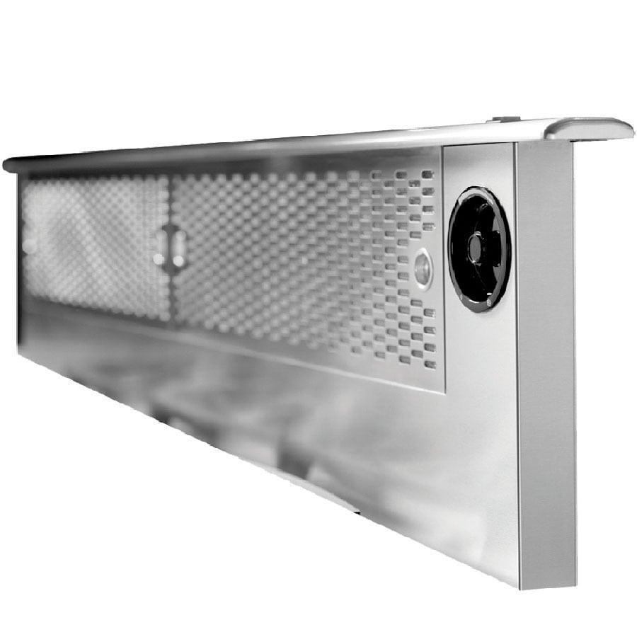 Shop dacor 36 in downdraft range hood black at for Ranges with downdraft ventilation