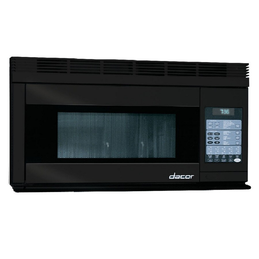 Dacor 1.1-cu ft Over-The-Range Convection Oven Microwave with Sensor Cooking Controls (Black) (Actual: 29.93-in)