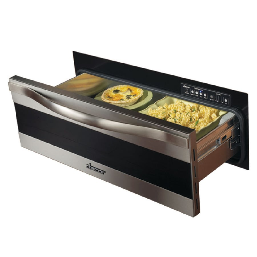 Dacor Warming Drawer (Black Glass with Horitzontal Stainless Steel Trim) (Common: 27-in; Actual 27-in)