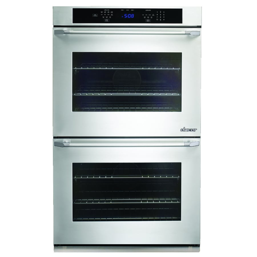 Dacor Distinctive Self-Cleaning Convection Single-Fan Double Electric Wall Oven (Stainless Steel with Chrome Trim) (Common: 27-in; Actual: 27-in)