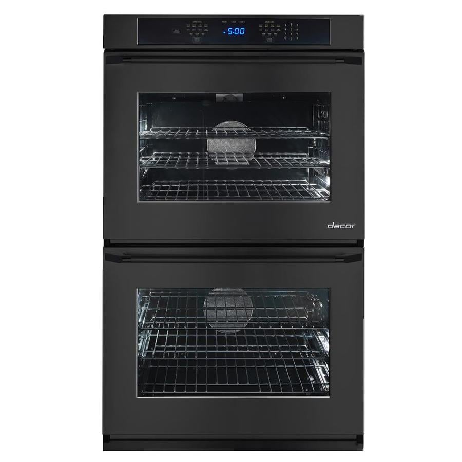 Dacor Renaissance Self-Cleaning Convection Single-Fan Double Electric Wall Oven (Black Glass) (Common: 27-in; Actual: 27-in)