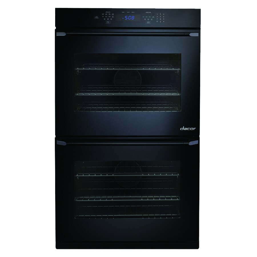 Dacor Distinctive Self-Cleaning Convection Single-Fan Double Electric Wall Oven (Black Glass) (Common: 27-in; Actual: 27-in)