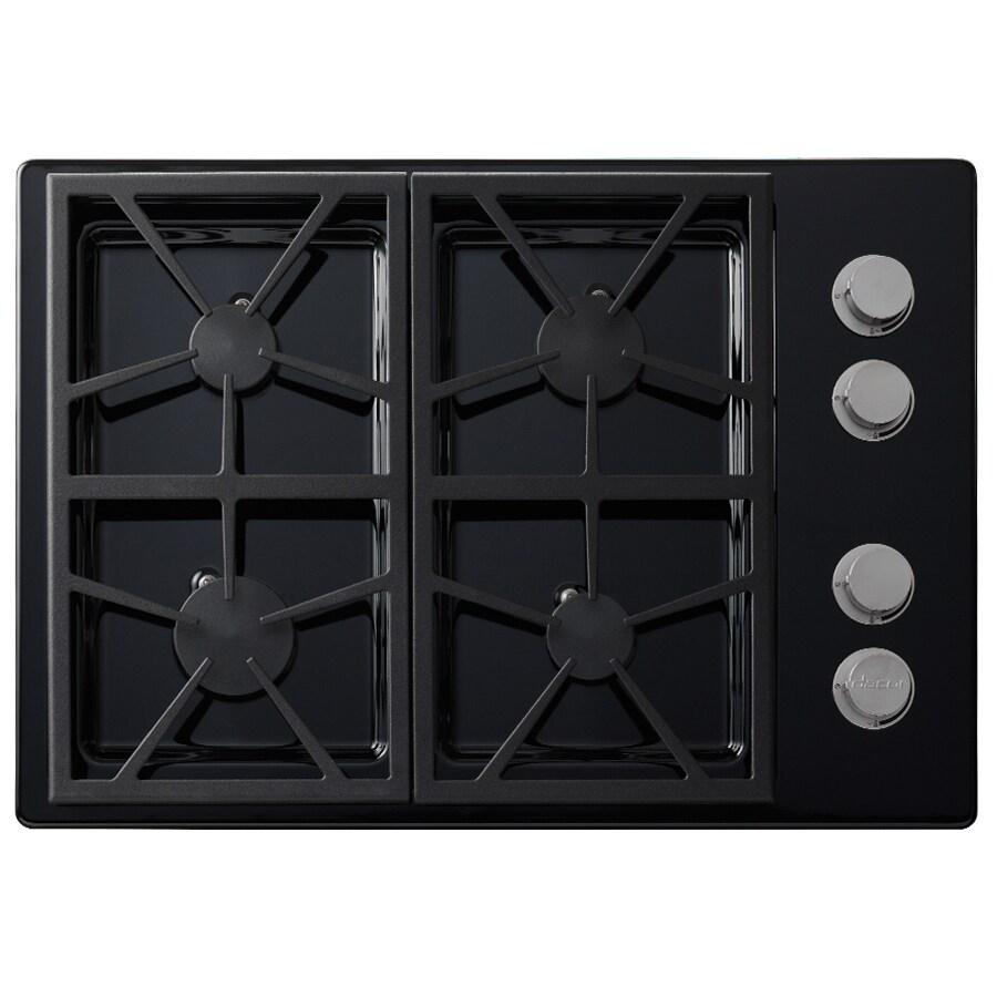 Dacor Distinctive 4-Burner Gas Cooktop (Black) (Common: 30-in; Actual: 30-in)