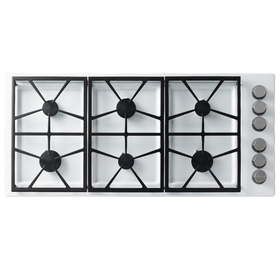 Dacor Distinctive 6-Burner Gas Cooktop (White) (Common: 46-in; Actual: 46-in)