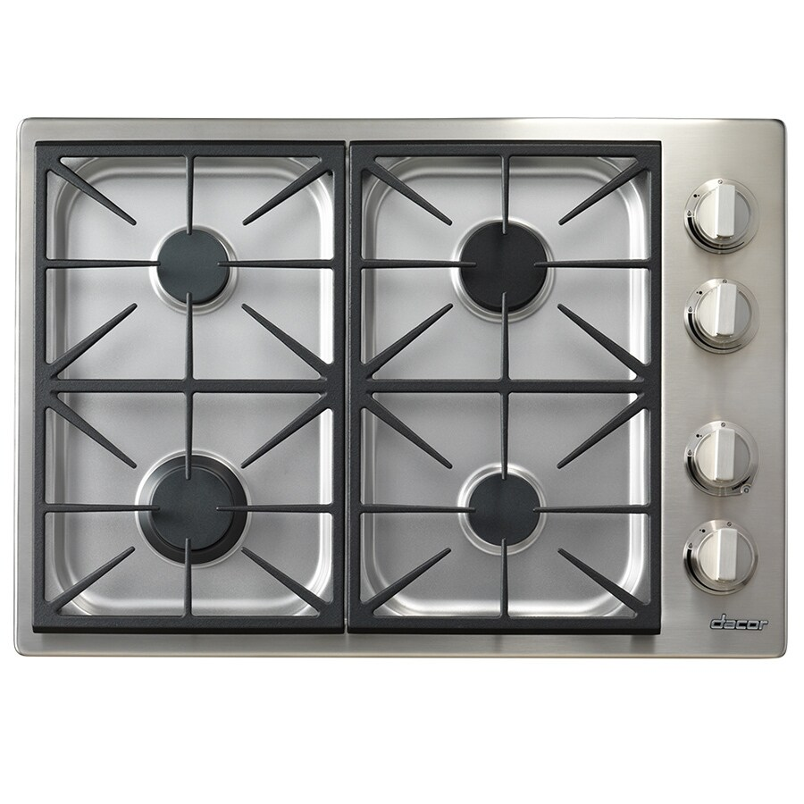 Dacor Discovery 4-Burner Gas Cooktop (Stainless Steel) (Common: 30-in; Actual: 30-in)