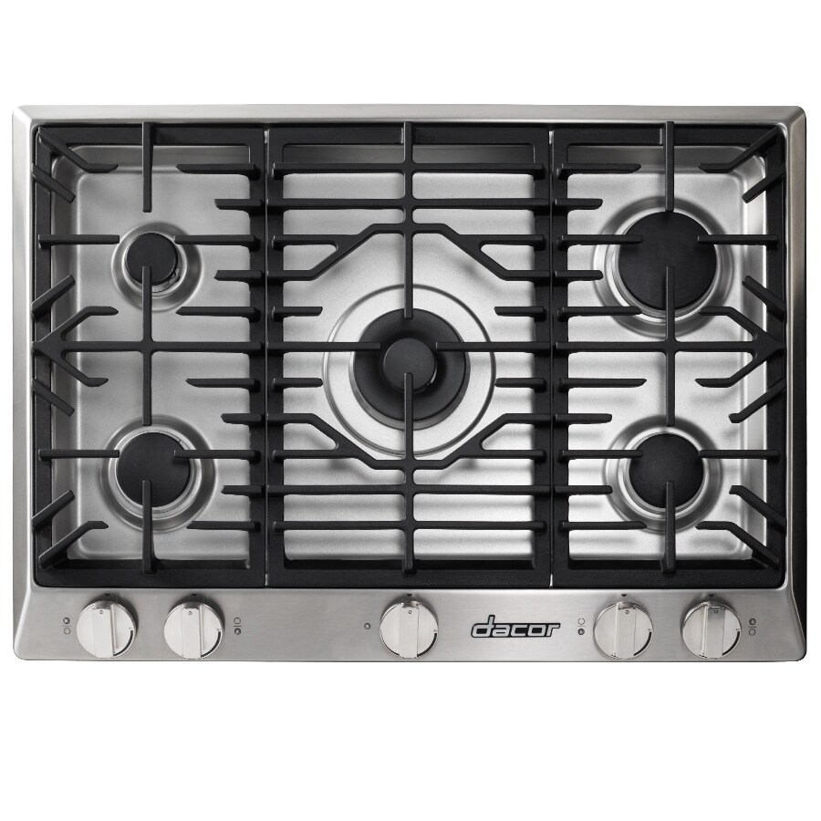 Dacor Renaissance 5-Burner Gas Cooktop (Stainless Steel) (Common: 30-in; Actual: 30-in)