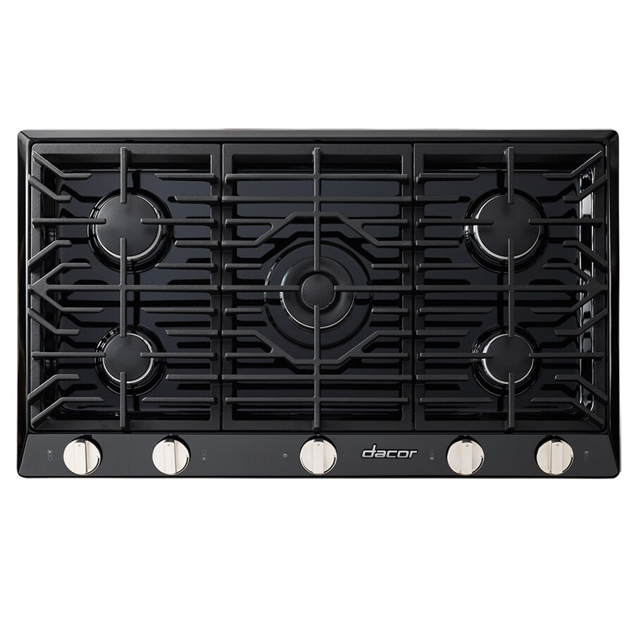 Dacor Renaissance 5-Burner Gas Cooktop (Black) (Common: 36-in; Actual: 36-in)