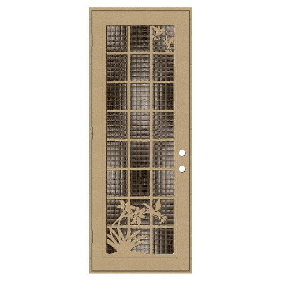 Shop titan french hummingbird powder coat desert sand for Security doors for french doors