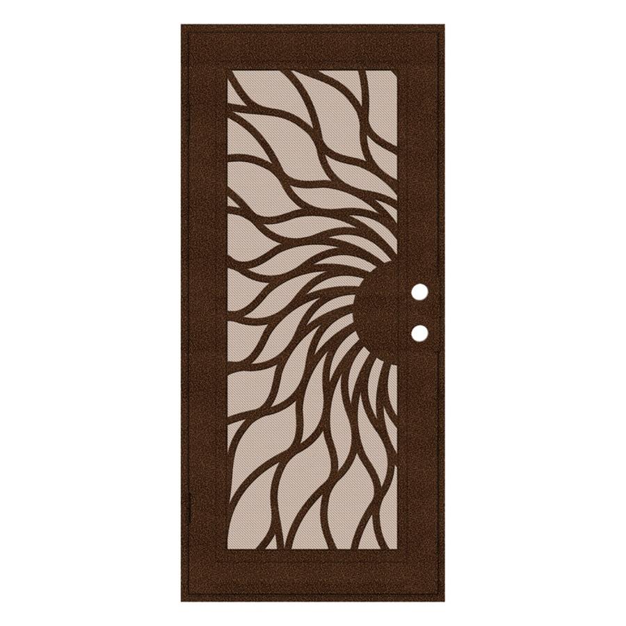 TITAN Sunfire Powder-Coat Copperclad Aluminum Surface Mount Single Security Door (Common: 36-in x 80-in; Actual: 38.5-in x 81.563-in)