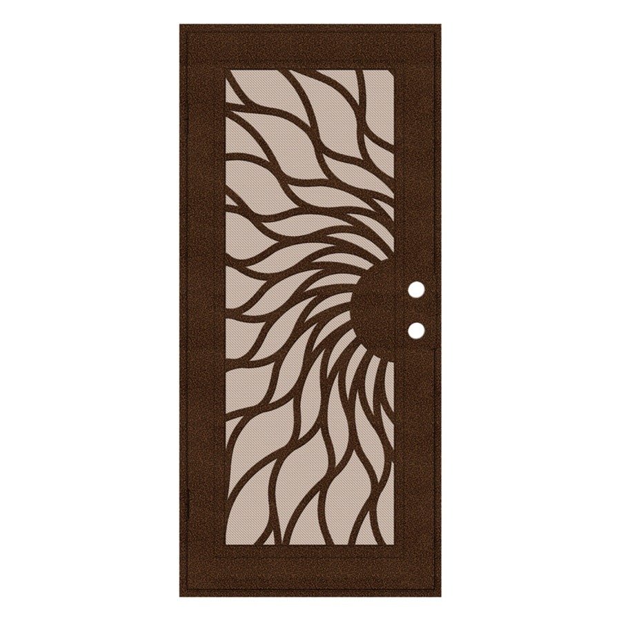 TITAN Sunfire Powder-Coat Copperclad Aluminum Recessed Mount Single Security Door (Common: 36-in x 80-in; Actual: 37.5-in x 81.563-in)