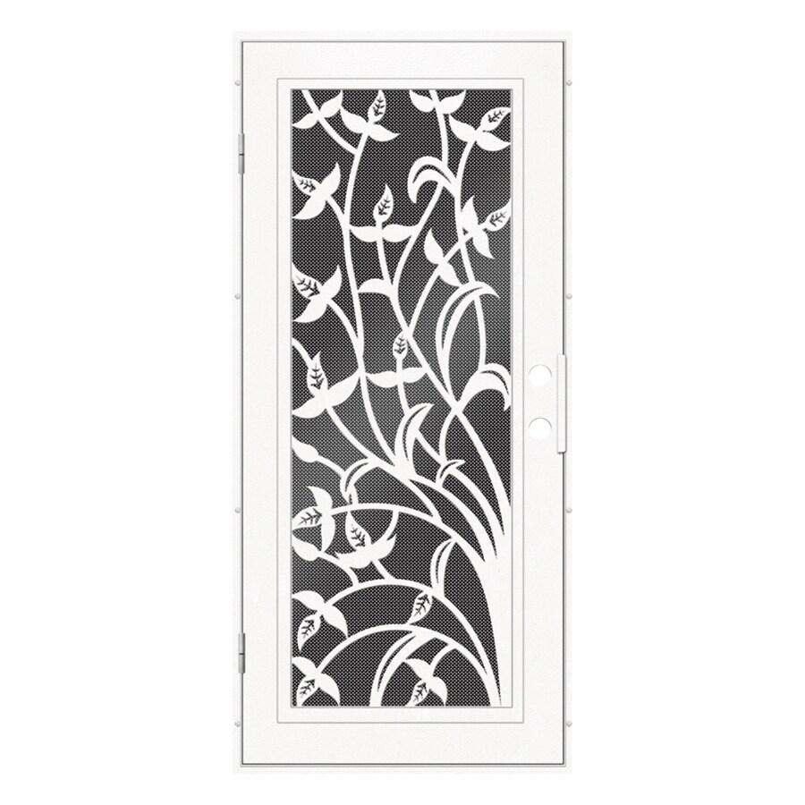 TITAN Yale Powder-Coat White Aluminum Surface Mount Single Security Door (Common: 36-in x 80-in; Actual: 38.5-in x 81.563-in)