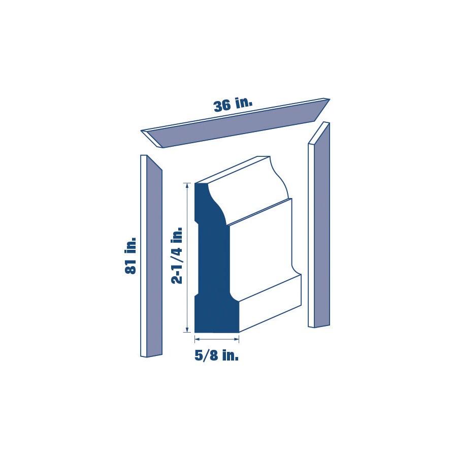 2.25-in x 7-ft Interior Primed MDF Window and Door Casing