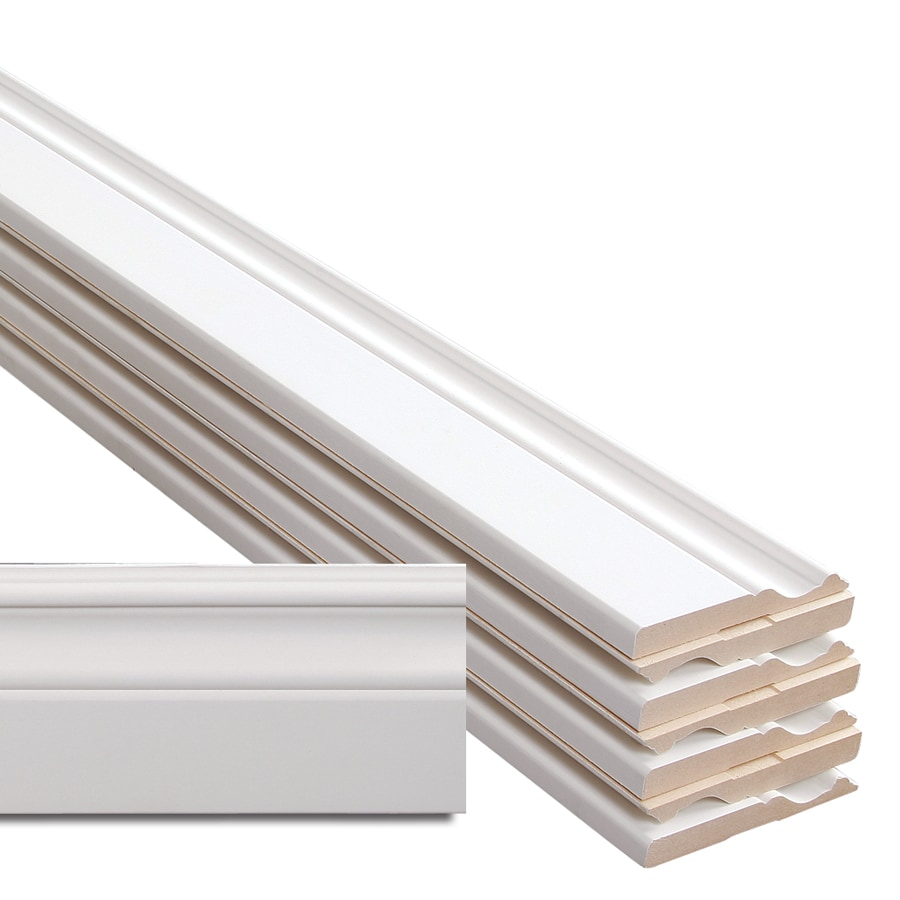 4-in x 12-ft Interior MDF Baseboard