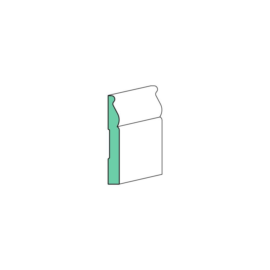EverTrue 5.25-in x 8-ft Interior MDF Baseboard
