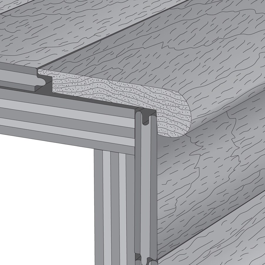 Mullican Flooring 3-in x 78-in Natural Maple Stair Nose Floor Moulding