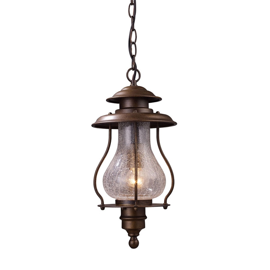 Westmore Lighting Truckee Rapids 16-in Coffee Bronze Outdoor Pendant Light
