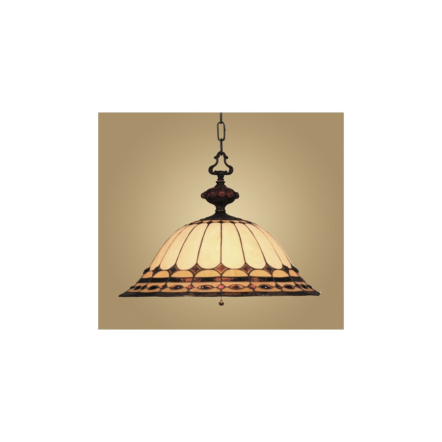 Westmore Lighting Savile 20-in Burnished Copper Single Stained Glass Pendant
