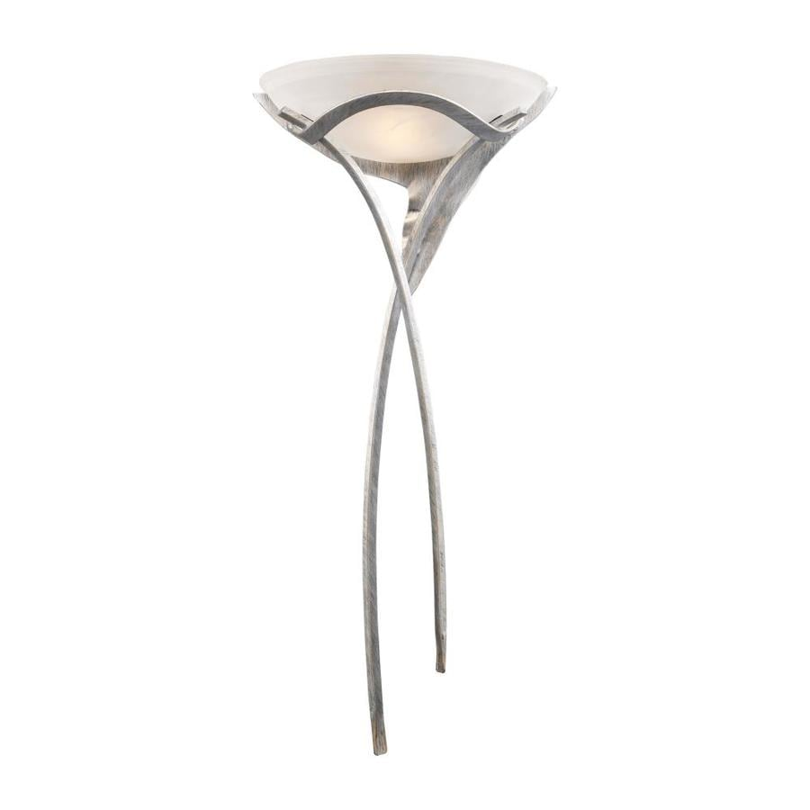 Westmore Lighting Aurora 16-in W 1-Light Tarnished Silver Pocket Hardwired/Plug-in Wall Sconce