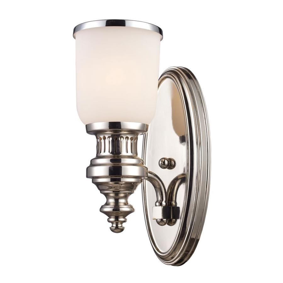 Westmore Lighting Chadwick 5-in W 1-Light Polished Nickel Arm Hardwired Wall Sconce