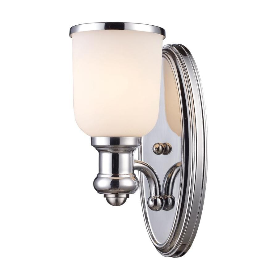 Westmore Lighting Brooksdale 5-in W 1-Light Polished Chrome Arm Hardwired Wall Sconce