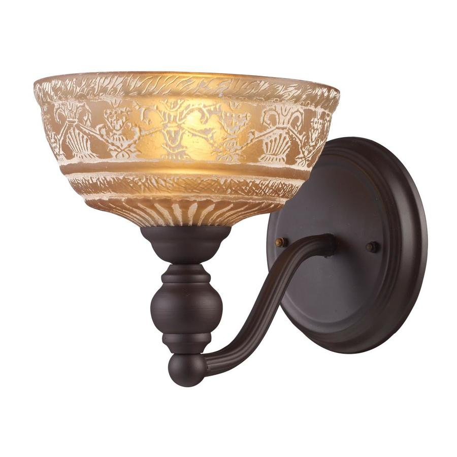Westmore Lighting Norwich 8-in W 1-Light Oiled Bronze Arm Hardwired Wall Sconce