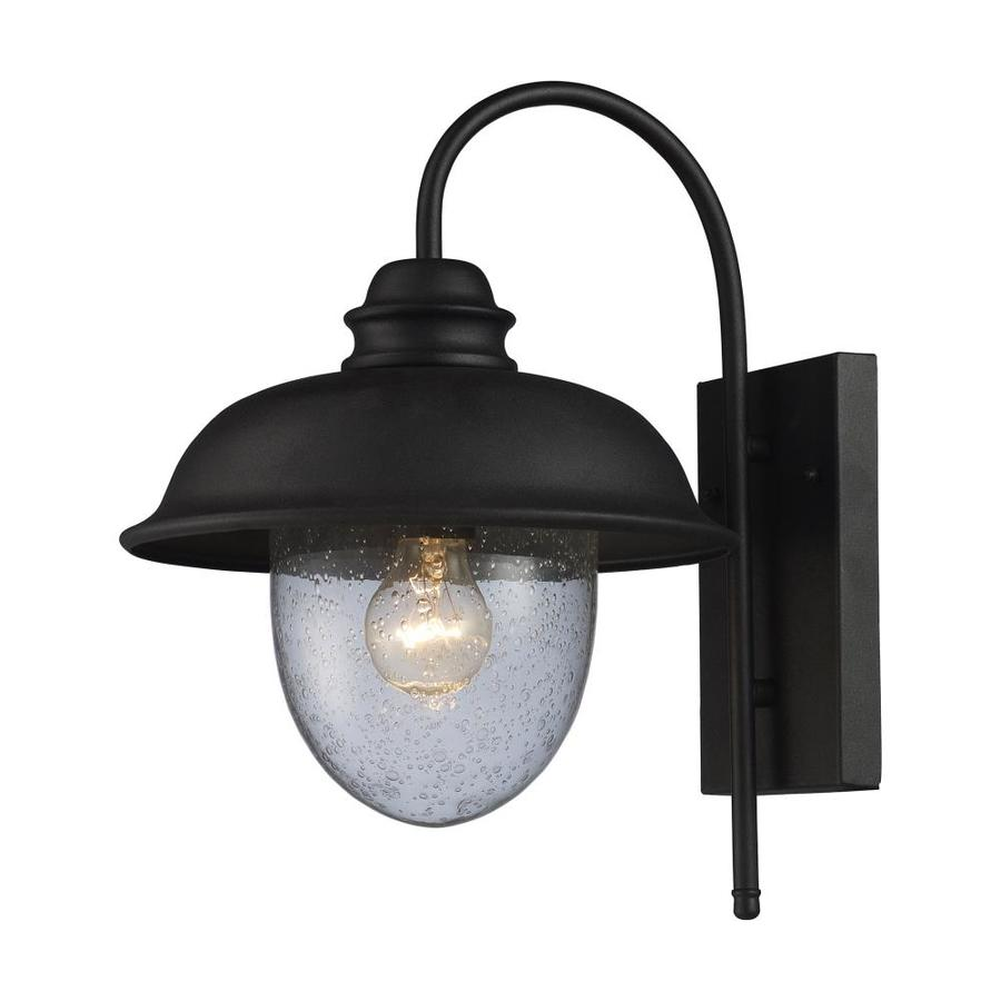 Westmore Lighting Brier 15-in H Matte Black Outdoor Wall Light