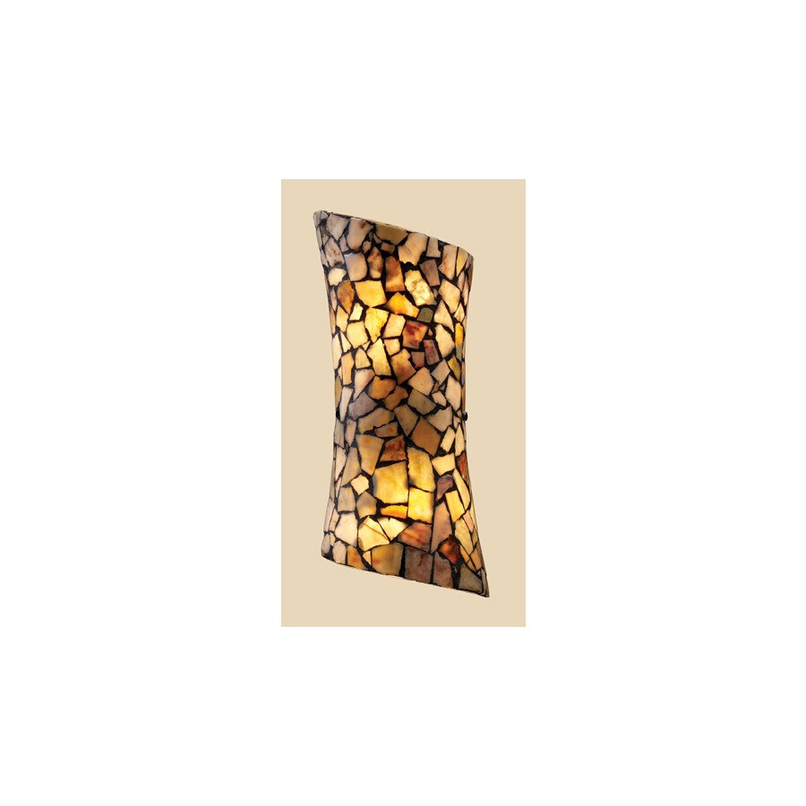 Westmore Lighting Trego 6-in W 2-Light Dark Rust Arm Hardwired Wall Sconce