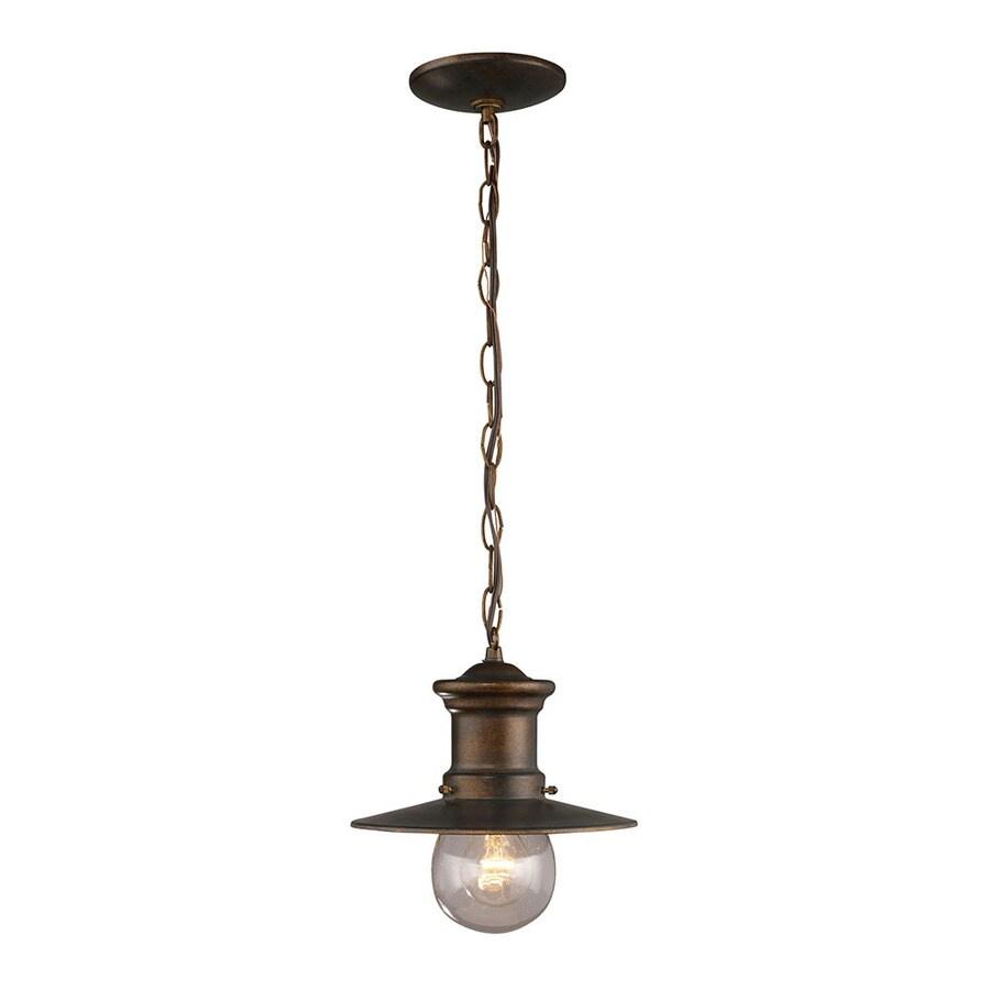Westmore Lighting Del Mar 10-in Hazelnut Bronze Outdoor Pendant Light
