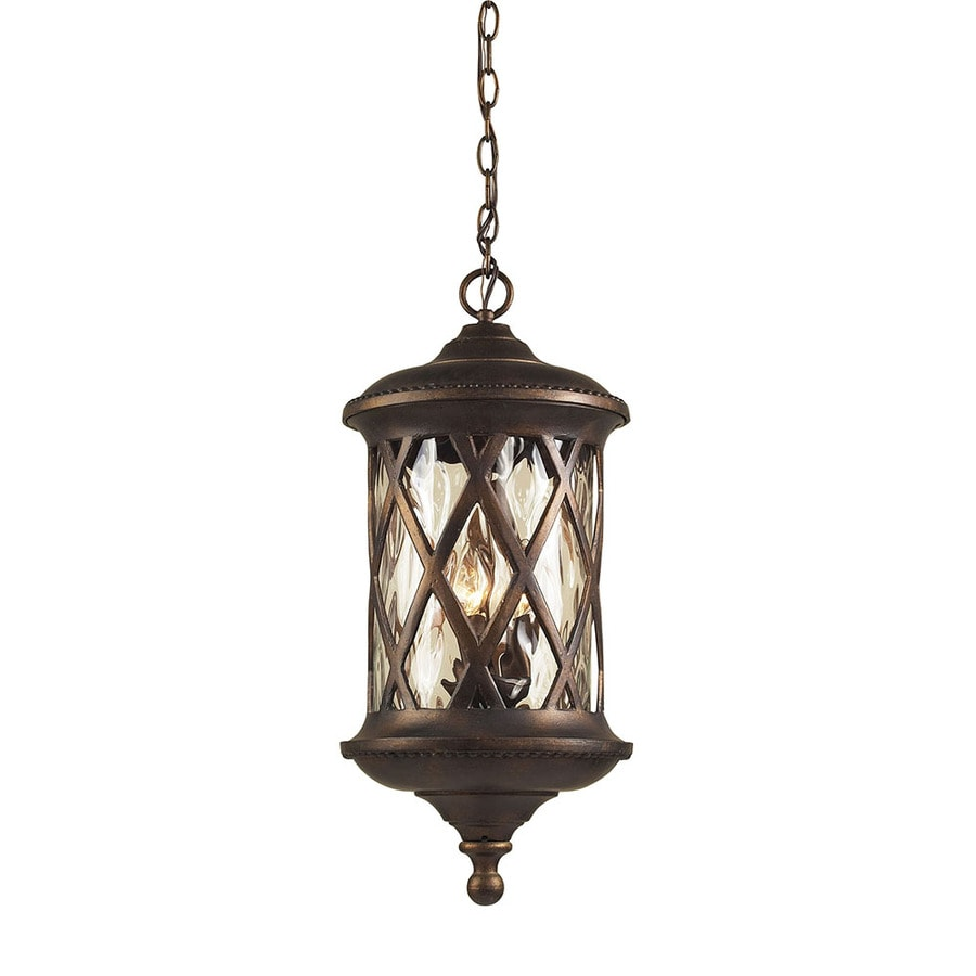 lighting ludwig 24 in hazelnut bronze outdoor pendant light at lowes. Black Bedroom Furniture Sets. Home Design Ideas