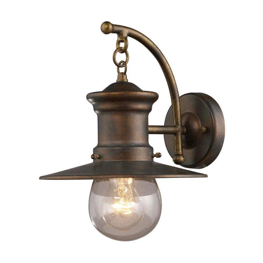 Westmore Lighting Del Mar 12-in H Hazelnut Bronze Outdoor Wall Light