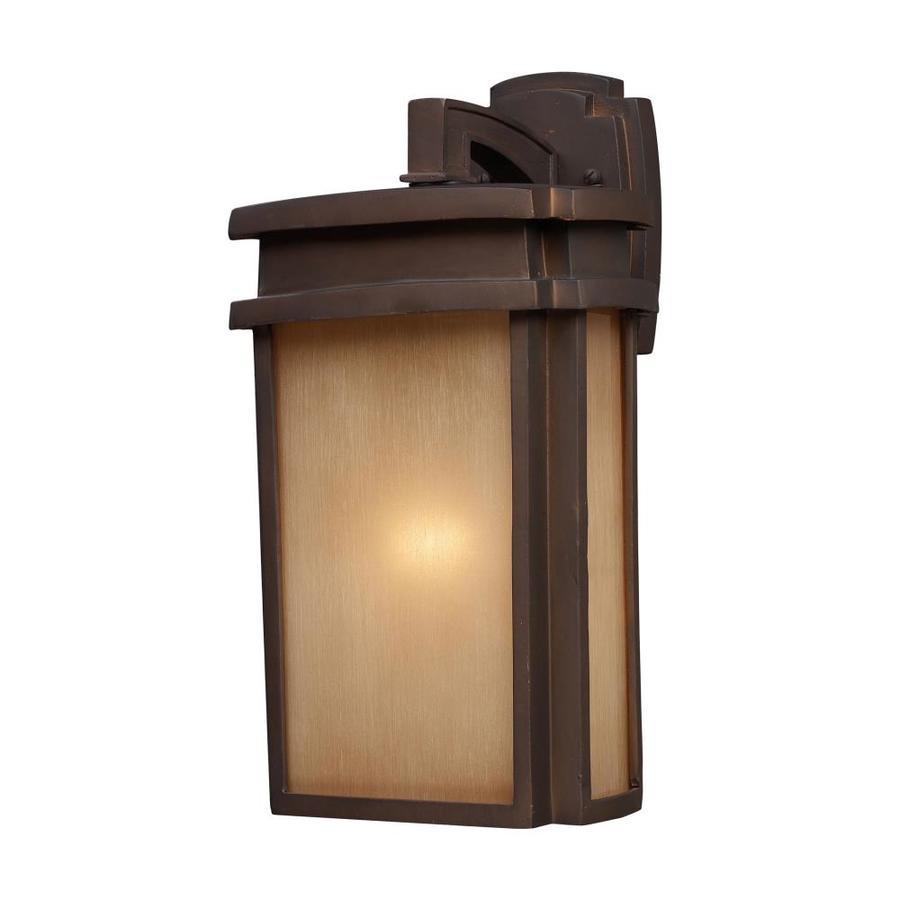 Westmore Lighting Logan Creek 16-in H Clay Bronze Outdoor Wall Light