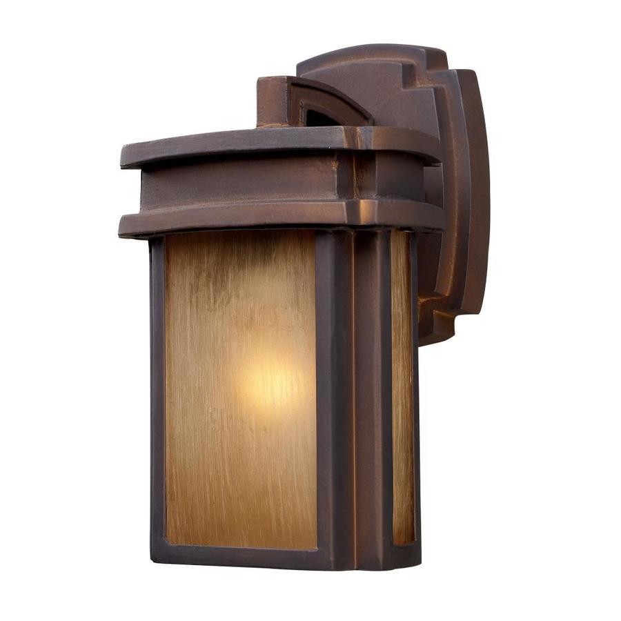 Westmore Lighting Logan Creek 10-in H Hazelnut Bronze Outdoor Wall Light