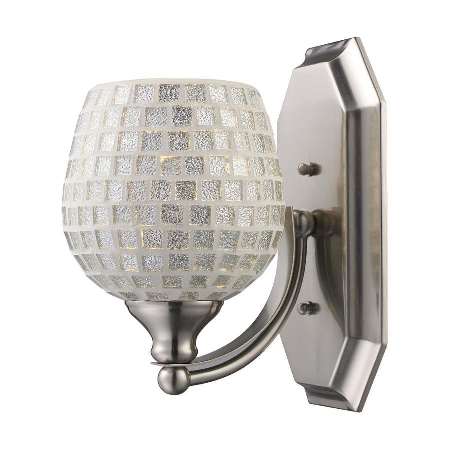 Westmore Lighting Homestead 1-Light Satin Nickel Cone Vanity Light