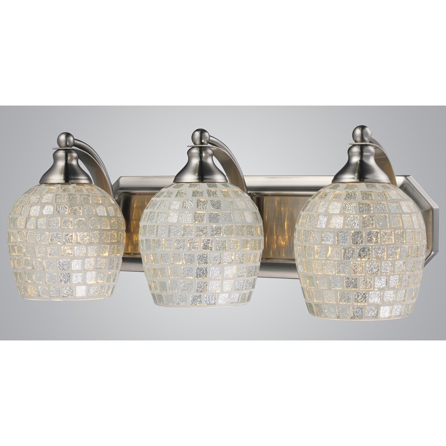 Westmore Lighting Homestead 3-Light Satin Nickel Bowl Vanity Light
