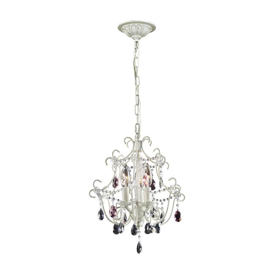 Westmore Lighting Blythe 13-in 3-Light Antique White Crystal Candle Chandelier