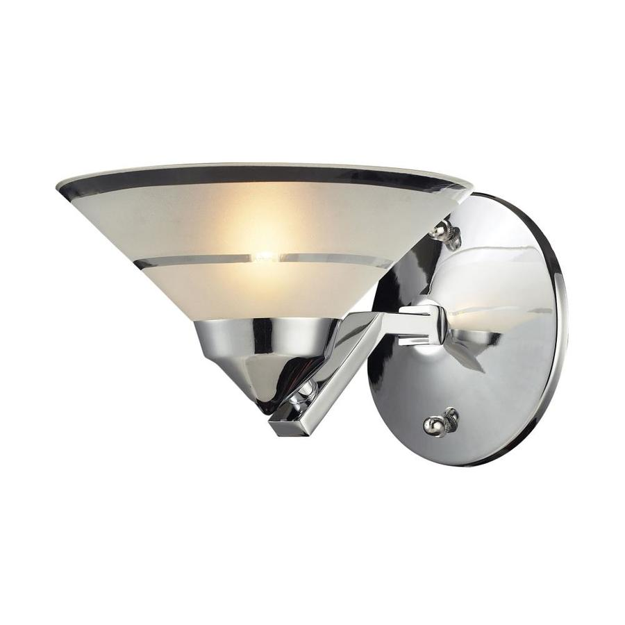 Westmore Lighting Refraction 7-in W 1-Light Polished Chrome Arm Hardwired Wall Sconce