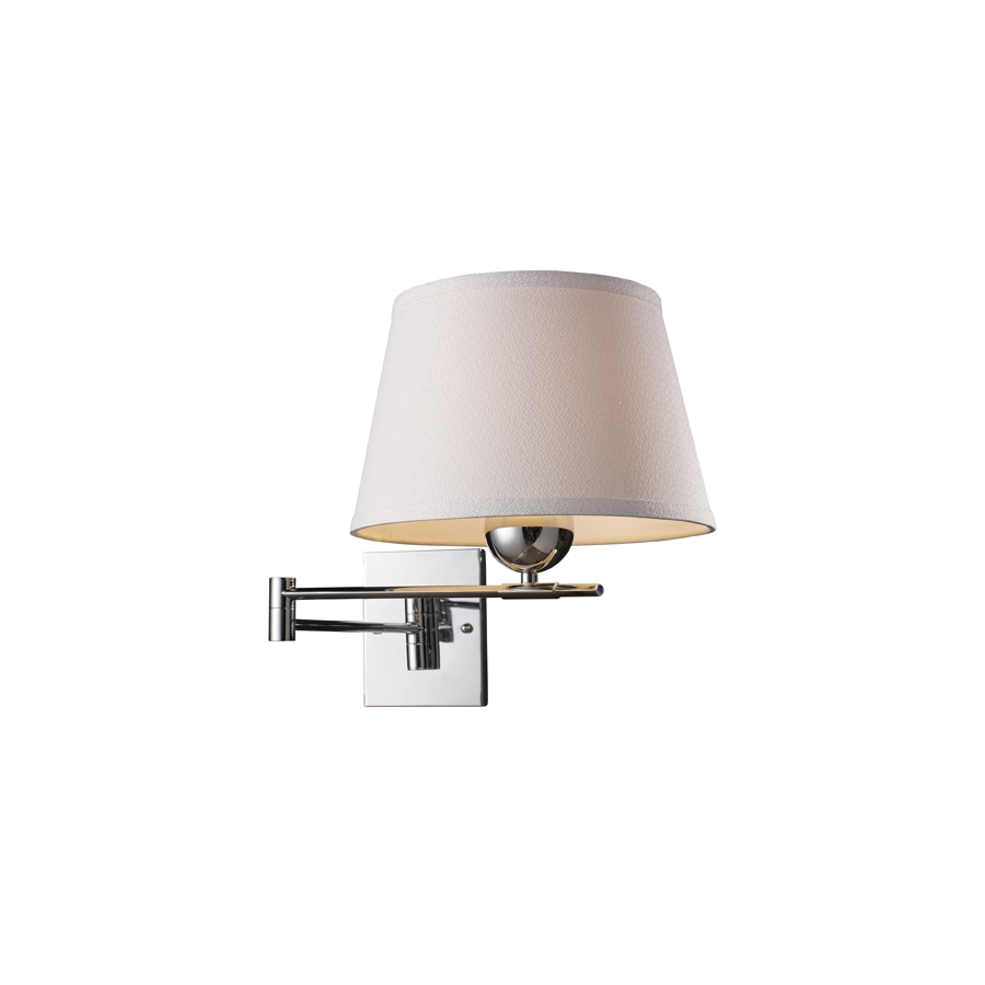 Plug In Wall Lamps Lowes : Shop Westmore Lighting Lanza 11-in W 1-Light Polished Chrome Arm Hardwired/Plug-In Wall Sconce ...