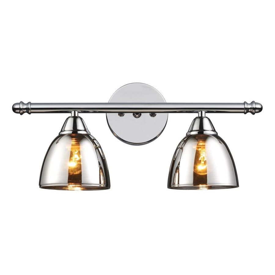 Vanity Lights In Chrome : Shop Westmore Lighting 2-Light Morfield Polished Chrome Bathroom Vanity Light at Lowes.com