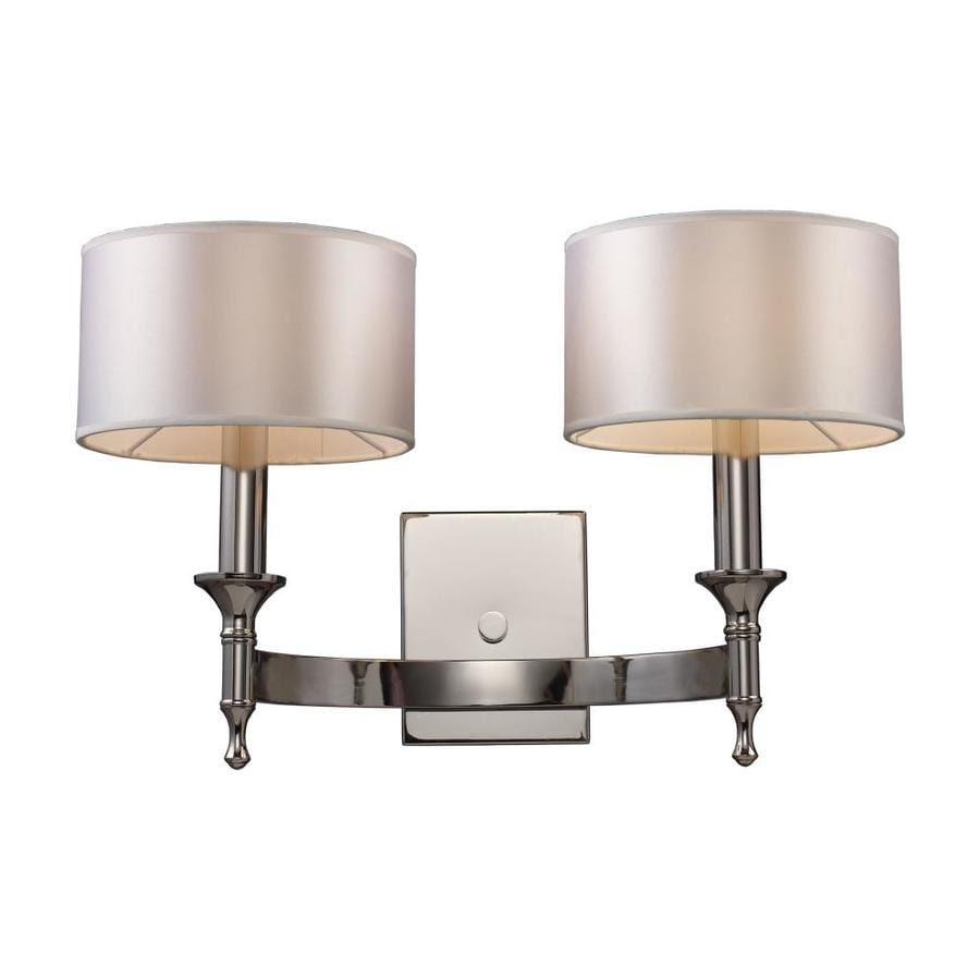Westmore Lighting 19-in W 2-Light Polished Nickel Arm Hardwired Wall Sconce