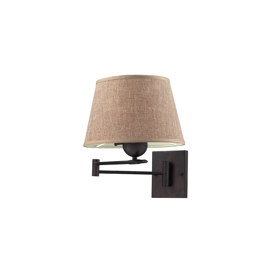 Plug In Wall Lamps Lowes : Shop Westmore Lighting 11-in W 1-Light Aged Bronze Arm Hardwired/Plug-In Wall Sconce at Lowes.com