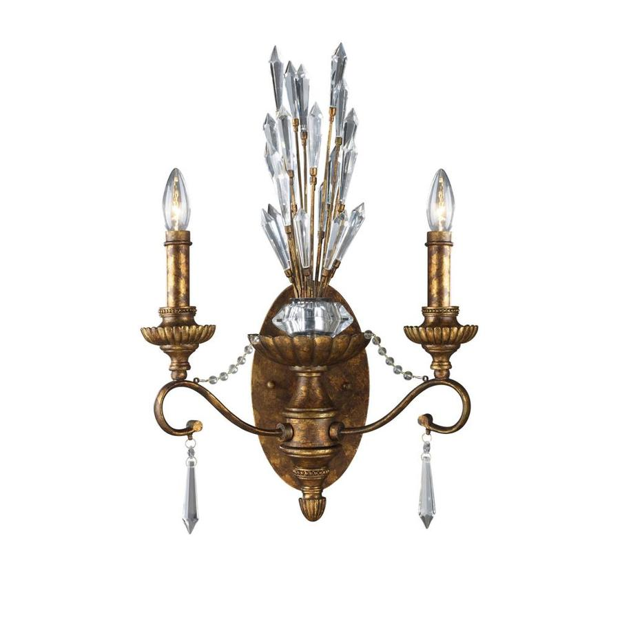 Westmore Lighting 15-in W 2-Light Spanish Bronze Arm Hardwired Wall Sconce