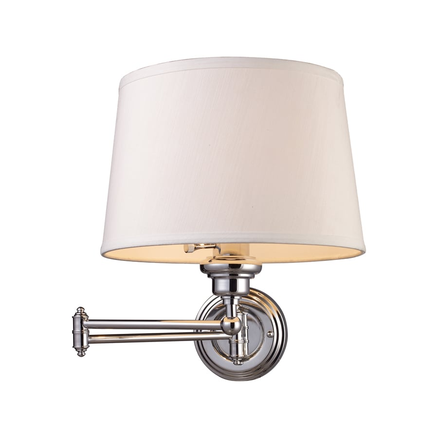 Plug In Wall Lamps Lowes : Shop Westmore Lighting 12-in W 1-Light Polished Chrome Arm Hardwired/Plug-In Wall Sconce at ...