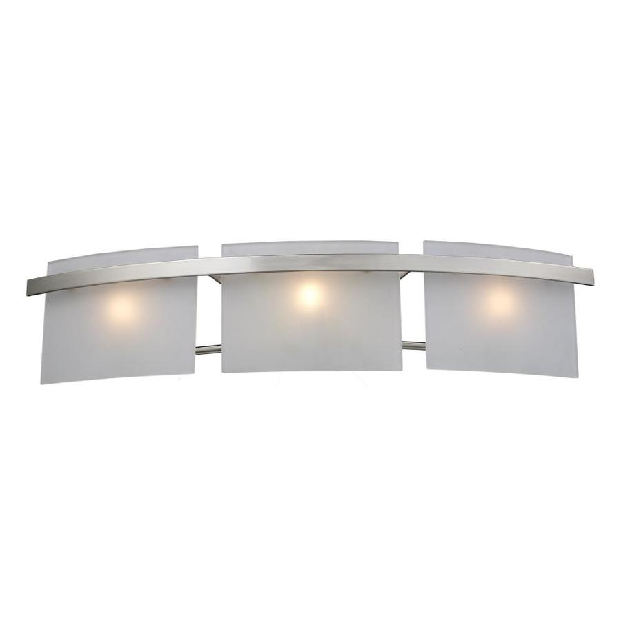 Westmore Lighting Loughrew 3-Light Satin Nickel Rectangle Vanity Light