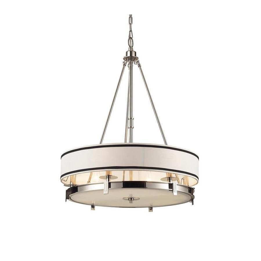 Westmore Lighting Carrere 24-in Polished Nickel Single Pendant