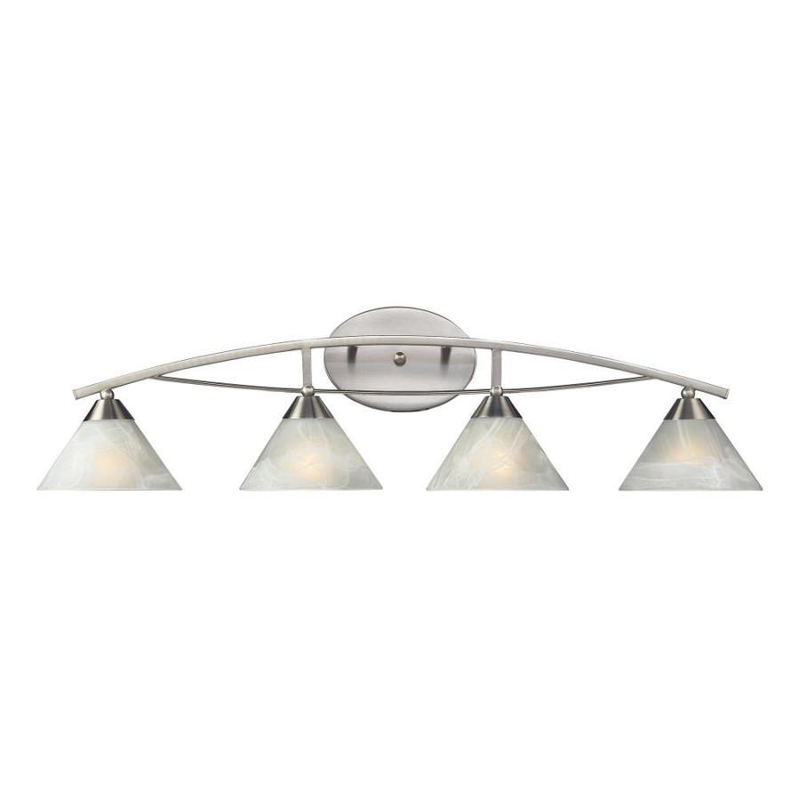 Westmore Lighting Beckett 4-Light Satin Nickel Cone Vanity Light