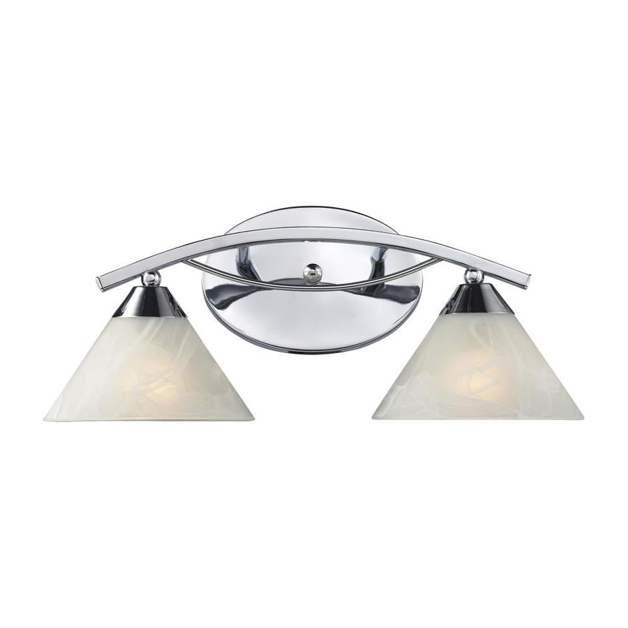 Vanity Lights Polished Chrome : Shop Westmore Lighting Beckett 2-Light Polished Chrome Cone Vanity Light at Lowes.com