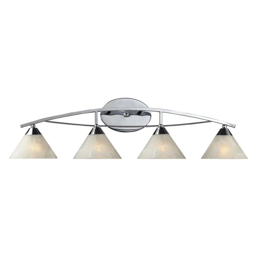 Vanity Lights Polished Chrome : Shop Westmore Lighting Beckett 4-Light Polished Chrome Cone Vanity Light at Lowes.com
